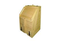 Кедровая фитобочка квадратная из вагонки, фото 1