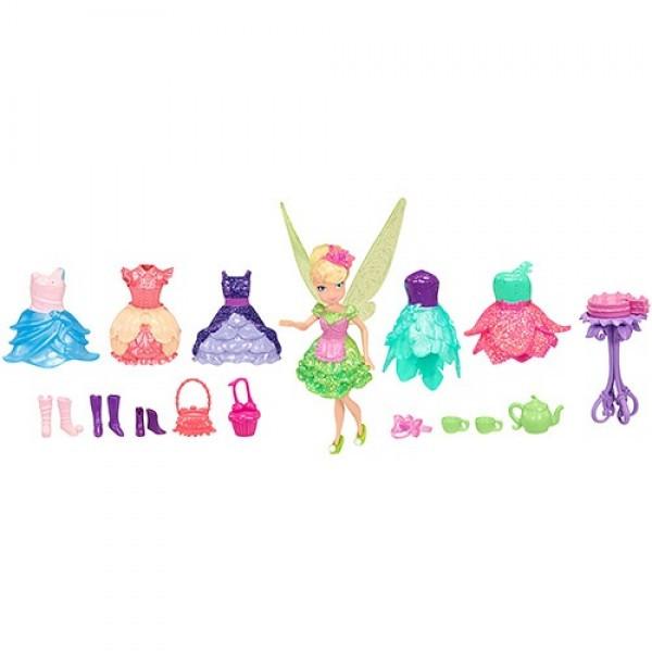 """Игрушка Дисней Фея 11 см, игровой набор """"Чаепитие"""", 1 кукла с аксессуарами"""