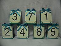 Номерки на столы любого характера в алматы, фото 1