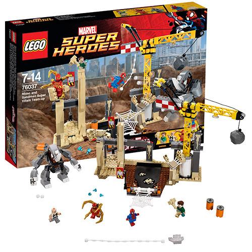 LEGO Супер Герои  76037 Носорог™ и Песочный человек™ против Супергероев™