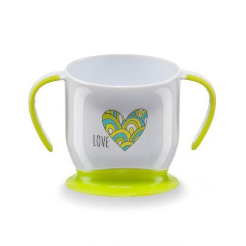 Кружка Happy Baby на присоске Baby cup with suction base в ассортименте