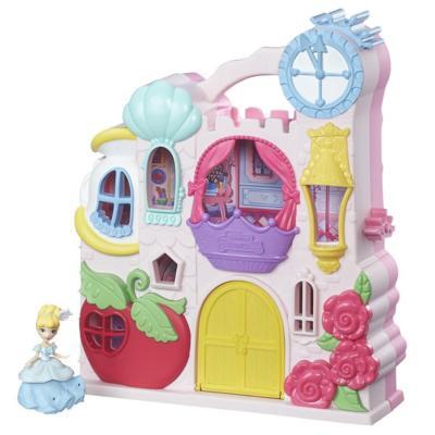 Hasbro Disney Princess Замок для маленьких кукол Принцесс: удобно храни и бери с собой