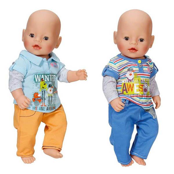 Игрушка BABY born Одежда Стильная для мальчика, 2 асс., веш.