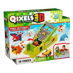 """QIXELS 3D Набор для творчества  Машинка для создания 3D фигурок """"3D Принтер"""""""
