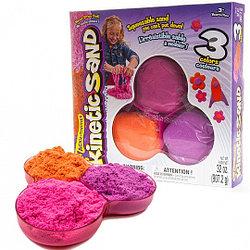 Песок для лепки Kinetic Sand. 907гр. 3 цвета в наборе
