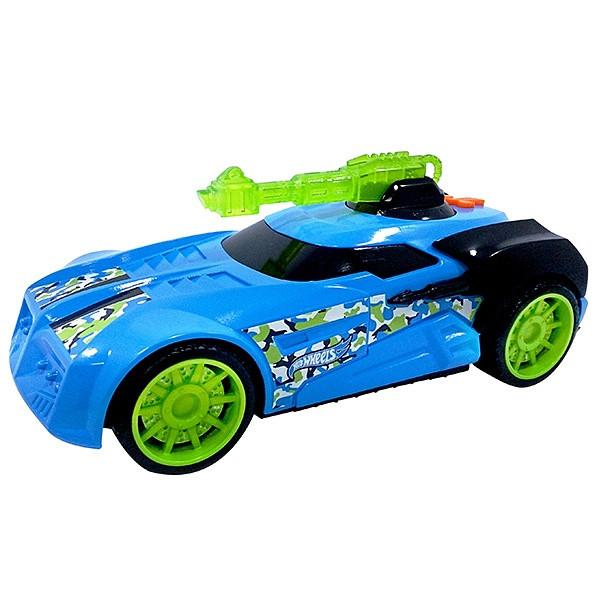 Hot Wheels HW91616 Машинка Хот вилс на батарейках свет+звук, голубая 27 см