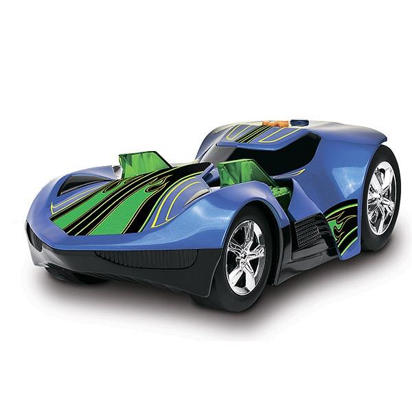 Hot Wheels Машинка Хот вилс на батарейках свет+звук, электомеханическая синяя 33 см