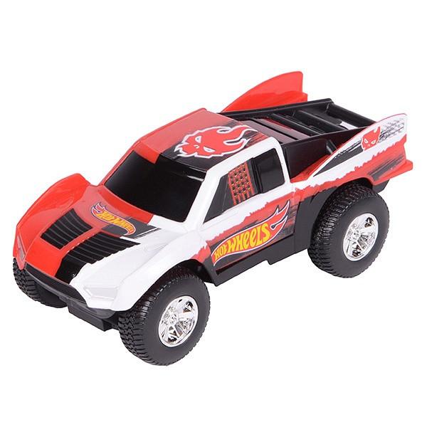 Hot Wheels Машинка Хот вилс на батарейках со светом механическая, красная 14 см