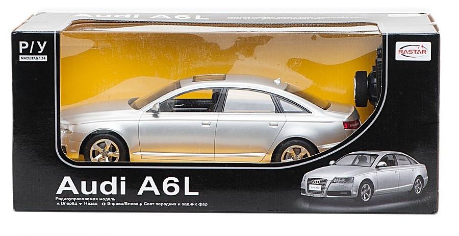 RASTAR RC Р/У Машина 1:14 42100 Audi A6L  46х22х20см свет. фары и стоп-сигналы