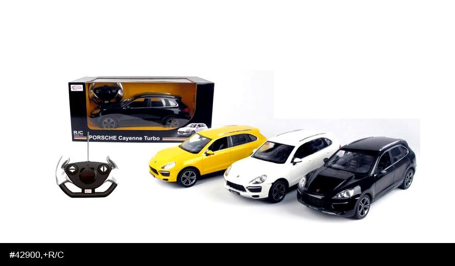 RASTAR RC Р/У Машина 1:14 42900 Porsche Cayenne Turbo, 3 цвета в асс., 46х22х20см, свет. фары и стоп-сигналы