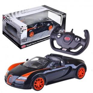 RASTAR RC Р/У Машина 1:14 70400 Bugatti Veyron 16.4 Grand Sport Vitesse, яркая коробка, 3 цвета в асс., незави