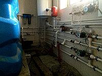 Монтаж отопления, с емкостью