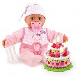 """BR 93885 Игровой набор """"День Рождения"""" с интерактивным пупсом 38см и праздничным тортиком (со светом)"""