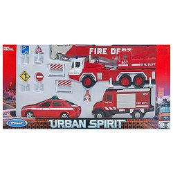 """Игрушка Welly набор машин """"Пожарная служба"""" 10 шт."""