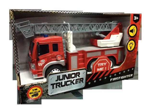 Инерционная пожарная машина Junior Trucker (свет, звук), 1:16