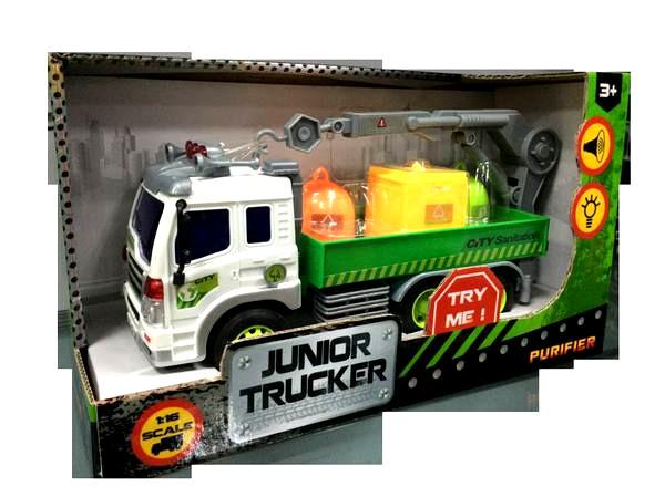 Инерционная машина Junior Trucker - Погрузчик (свет, звук), 1:16