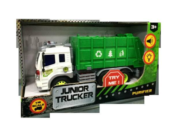 Инерционная машина Junior Tracker - Мусоровоз (свет, звук), 1:16
