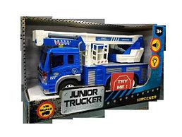 Инерционная машина Junior Tracker - Автокран, (свет, звук), 1:16