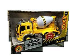 Инерционная машина Junior Trucker - Бетономешалка (свет, звук), 1:16