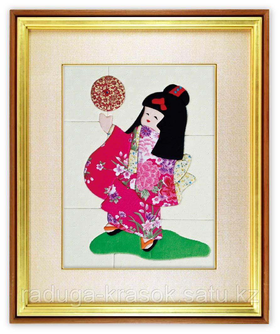 """Картины из ткани - """"Японочка"""" 30Х40 см"""