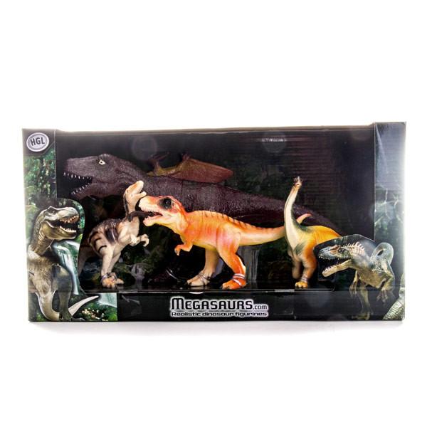 Игрушка игровой набор динозавров 6 штук  в асс