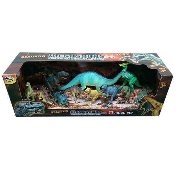 Игрушка игровой набор динозавров 11 штук  в асс