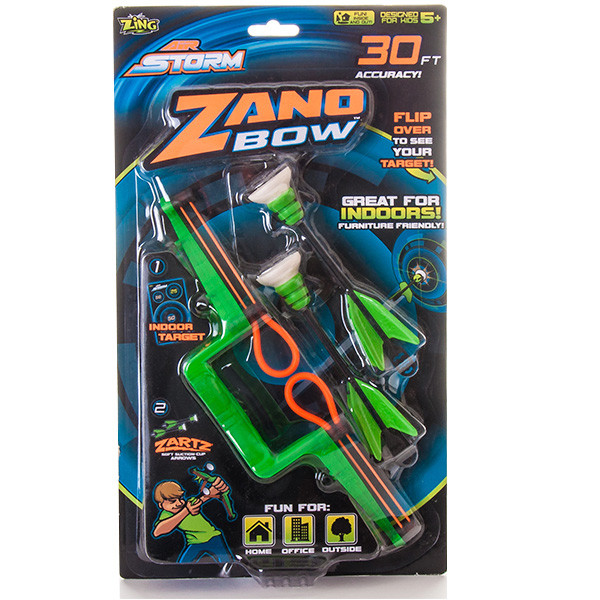 Игрушка мини-лук Zing с двумя стрелами на присосках, в ассортименте