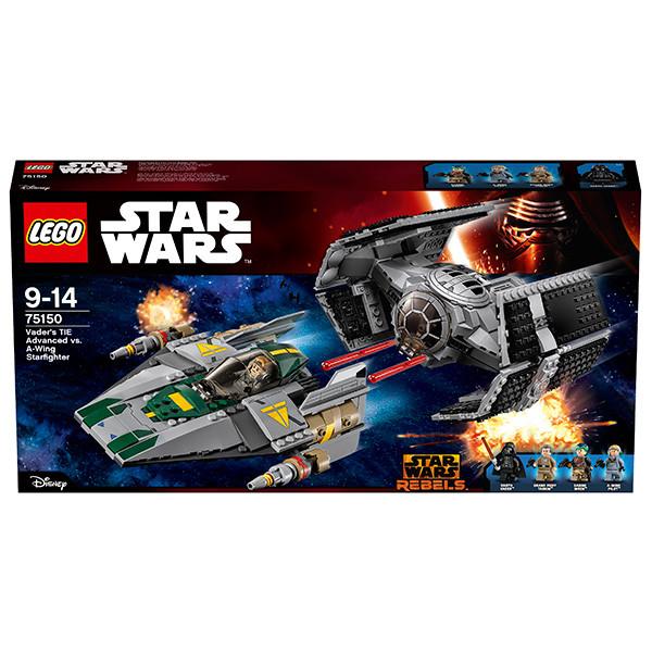LEGO Игрушка Звездные войны Усовершенствованный истребитель СИД Дарта Вейдера против Звёздного Истребителя