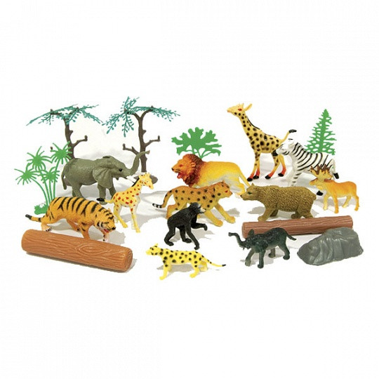 """Игровой набор Boley Рюкзачок """"В мире животных"""" в комплекте 20 шт"""