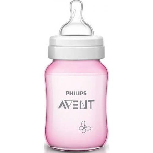 Бутылочка Avent Classic+ 260мл, розовая бабочка