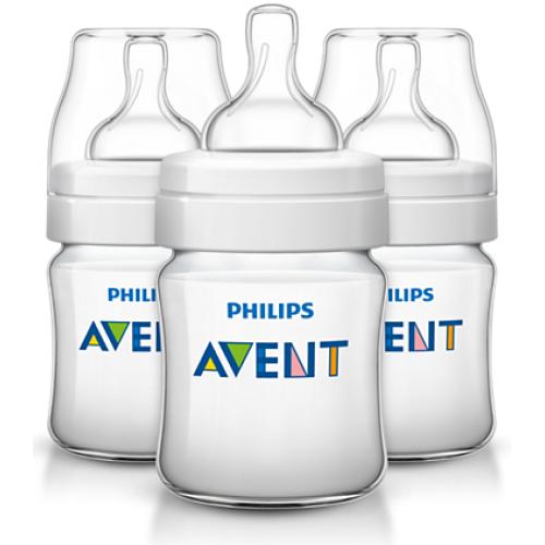 Бутылочка для кормления 125 мл Avent Classic+ 3 шт
