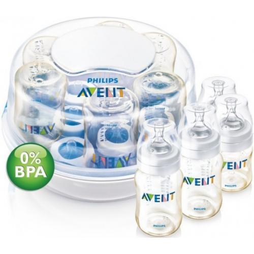 Стерилизатор Avent для микроволновой печи c 4 бутылочками в комплекте