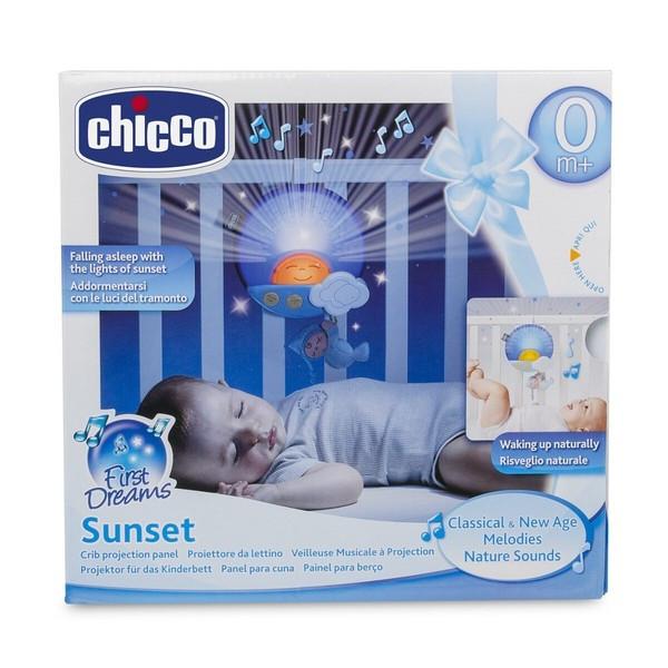 "Chicco: Ночник-проектор на кроватку ""Sunset"" голубой 0м+"