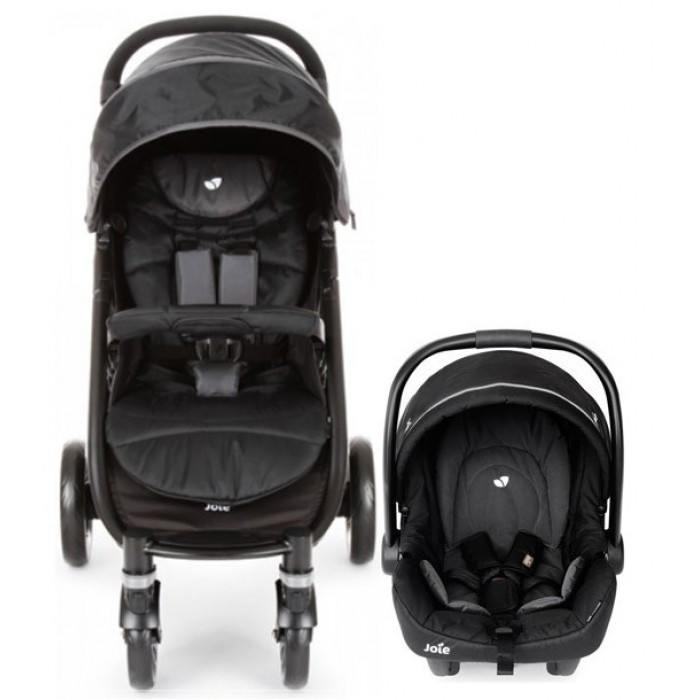 Коляска прогулочная Joie Litetrax 4 TS Midnight TRAVEL SYSTEM