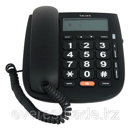 Телефон проводной Texet ТХ-260 черный, фото 2
