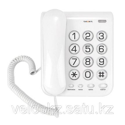 Телефон проводной Texet ТХ-262 серый, фото 2