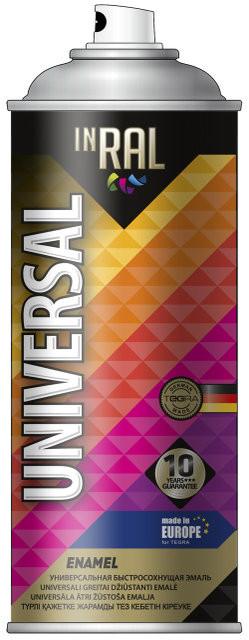 Краска Аэрозоль универс-04 черный гланц RAL 9017 400 мл INRAL