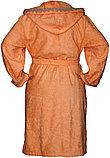 Женский банный махровый халат с капюшоном. Россия, фото 2
