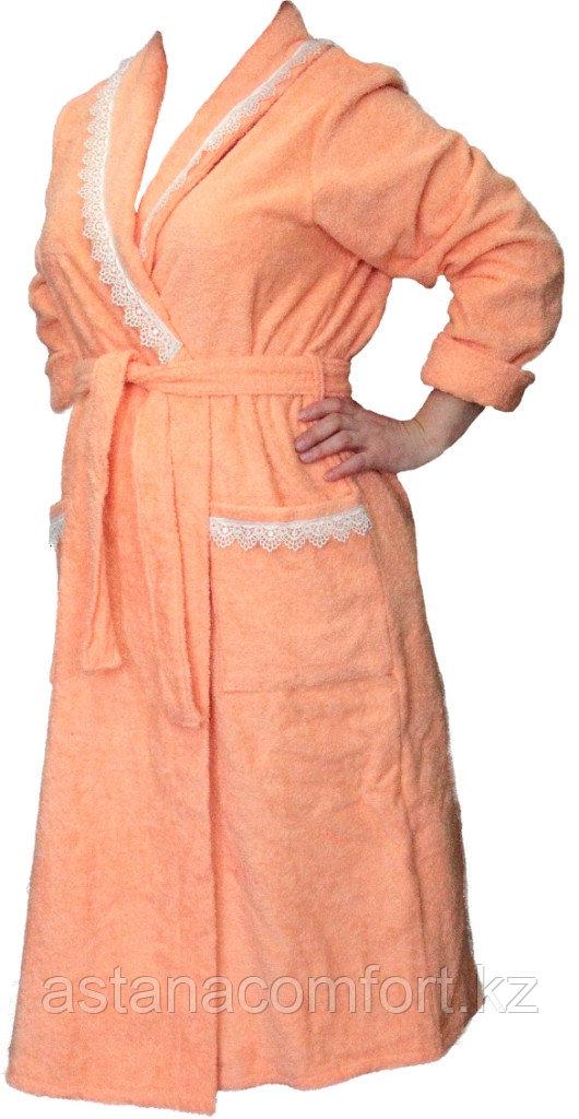 Махровый женский банный халат. Россия