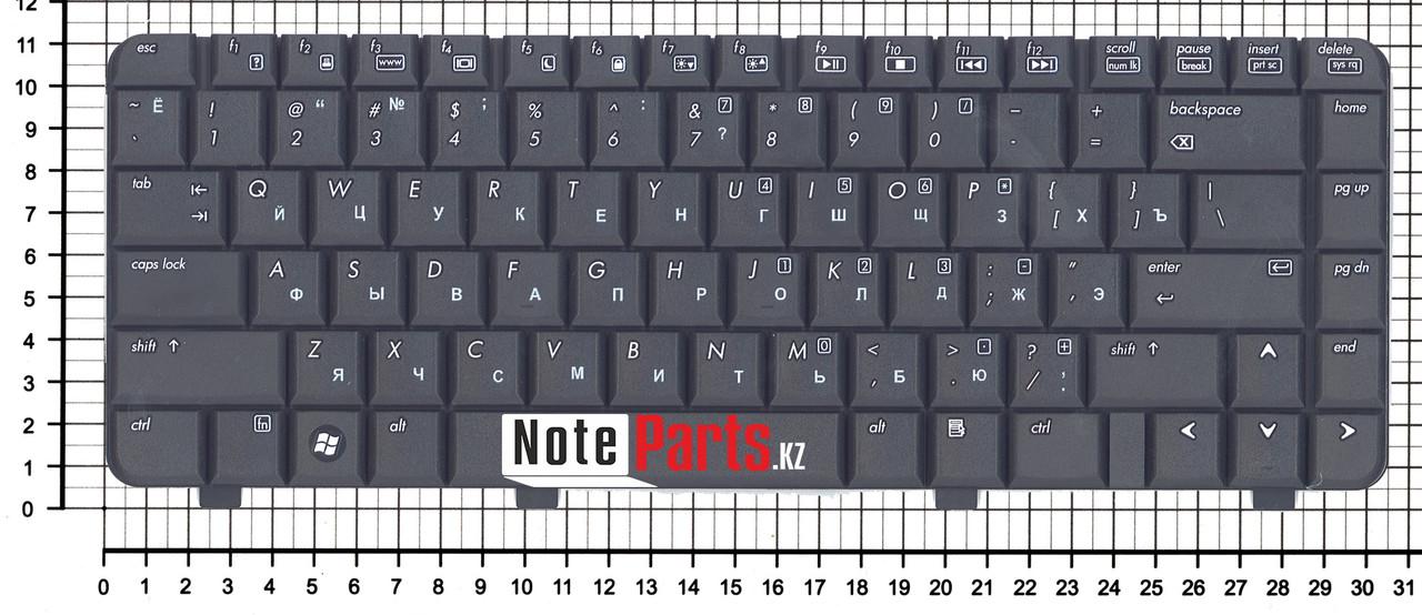 Клавиатура для ноутбука HP Compaq 540 / 6520s / 6720s