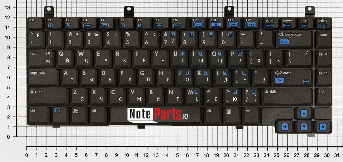 Клавиатура для ноутбука HP Pavilion dv4000 / Compaq Presario V4000 / V4400