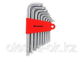 Набор ключей имбусовых TORX, 9 шт, T10-T50, CrV, удлиненных, с сатиновым покрытием. MATRIX, фото 2