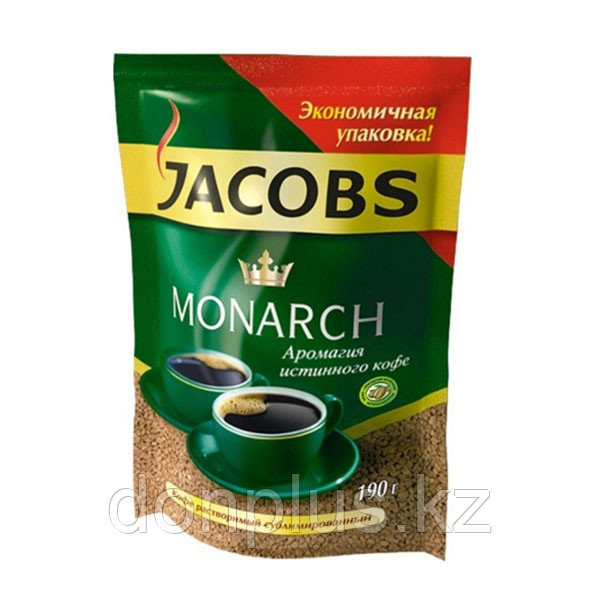 КОФЕ РАСТВОРИМЫЙ JACOBS MONARCH, 190гр.