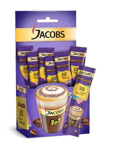 КОФЕ РАСТВОРИМЫЙ JACOBS MOCCO, 21 пакетик по 12.5гр