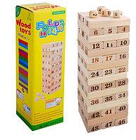 Игра Дженга Wood Toys Folds High Цифры, фото 1