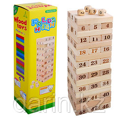 Игра Дженга Wood Toys Folds High Цифры