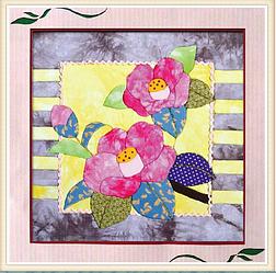 """Картины из ткани - """"Два розовых цветка"""" 40х40 см"""