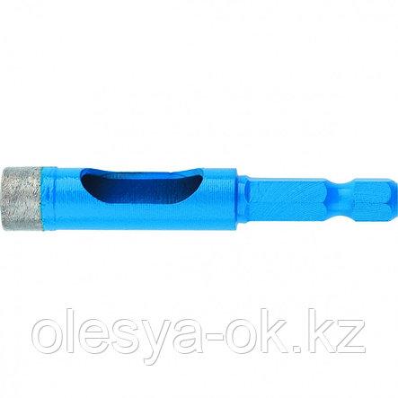 Сверло алмазное по керамограниту, 10 х 35 мм, 6-гранный хвостовик // БАРС, фото 2