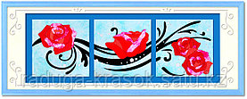 "Картины из ткани - ""Розы"" 40х40х3 см"