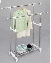 Стойки металлопластиковые для одежды